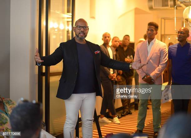 Founder Native Son Emil Wilbekin deliver remarks at Native Son Hosts Its First Los Angeles Event On August 13th Inpartnership with AIDS Healthcare...