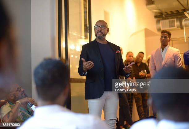Founder Native Son Emil Wilbekin delivers remarks at Native Son Hosts Its First Los Angeles Event On August 13th Inpartnership with AIDS Healthcare...