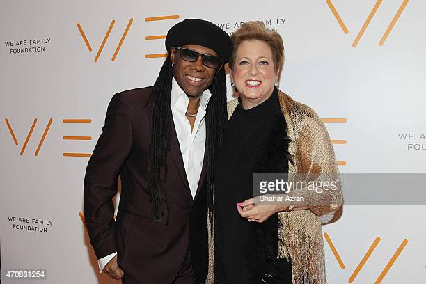 Founder Nile Rodgers and honoree Caryl M Stern attend the 2015 We are Family Foundation Celebration Gala at Hammerstein Ballroom on April 23 2015 in...