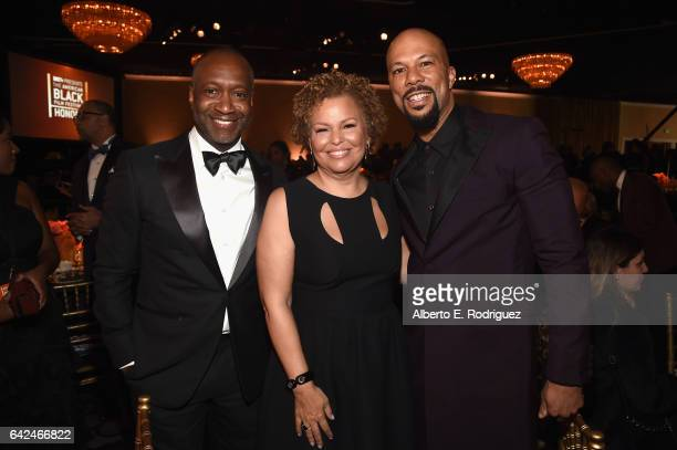 Founder of ABFF Jeff Friday chairman and chief executive officer of BET Debra Lee and actor Common attend BET Presents the American Black Film...
