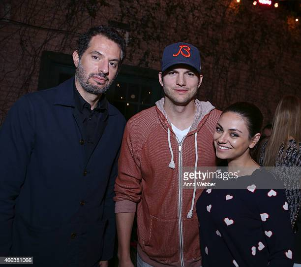 Founder of AGrade Investments Guy Oseary Actor Ashton Kutcher and Mila Kunis attend The Launch Of Ashton Kutcher Guy Oseary's Sound Ventures At SXSW...