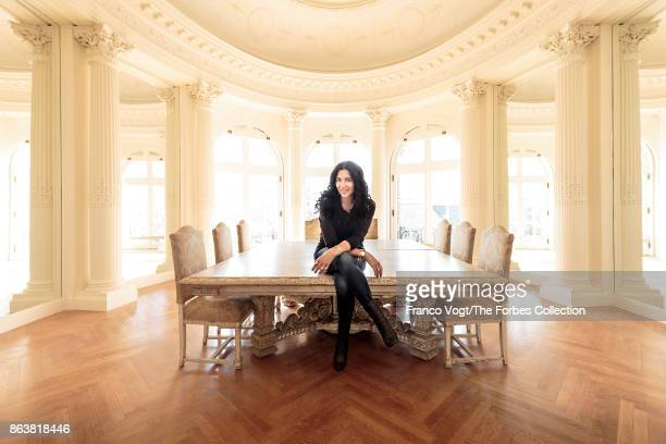 Founder of Alex and Ani Carolyn Rafaelian is photographed for Forbes Magazine on April 8 2017 at Belcourt Mansion in Newport Rhode Island PUBLSIHED...
