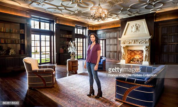 Founder of Alex and Ani Carolyn Rafaelian is photographed for Forbes Magazine on April 8 2017 at Belcourt Mansion in Newport Rhode Island PUBLISHED...