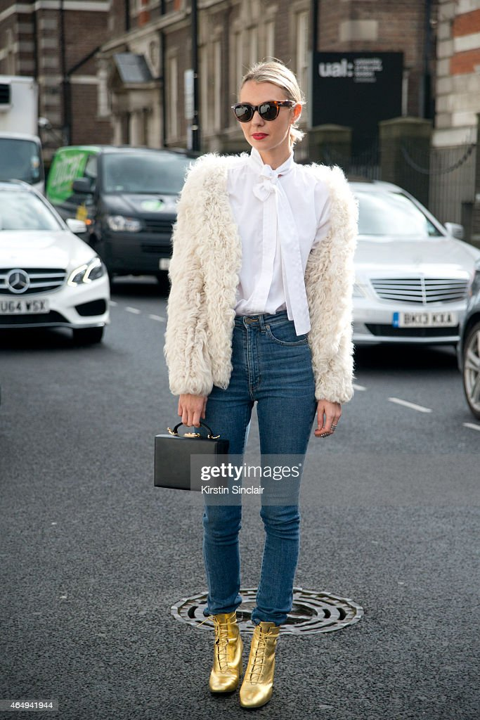 Founder of Avenue 32 Roberta Banteler wears Saint Laurent boots a Mark Cross bag Isabel Marant jacket Celine sunglasses Yves saint Laurent shirt and...