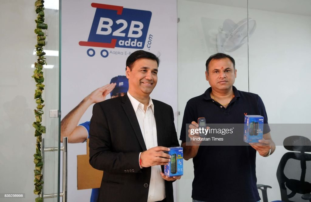 Founder of B2Badda Yogesh Bhatia and Munish Jindal launch the Detel D1 of Rs. 299 mobile phone, on August 18, 2017 in Gurgaon, India. It has 1.44 inch of Monochrome Display. The phone has single SIM facility and it is powered by a 650 mAh battery.