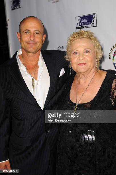 Founder of Bullets 4 Peace Rafi Anteby and his mother attend the 3rd annual Bullets 4 Peace reloading life event celebrating the World Peace Day at...