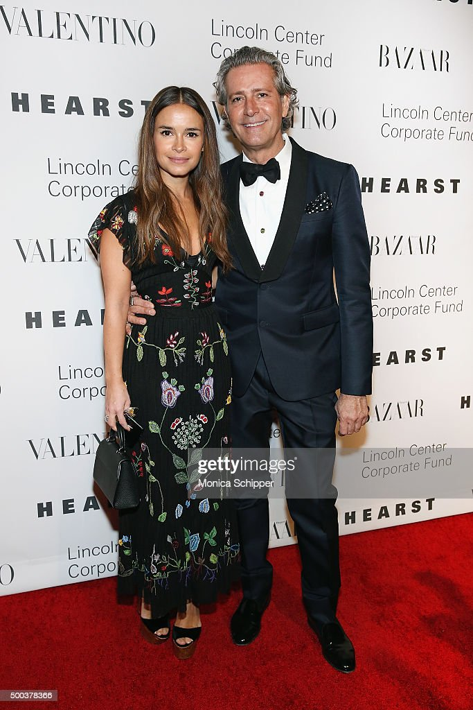Founder of Buro 24/7 Miroslava Duma and Carlos Souza attend 'An Evening Honoring Valentino' Lincoln Center Corporate Fund Gala Inside Arrivals at...