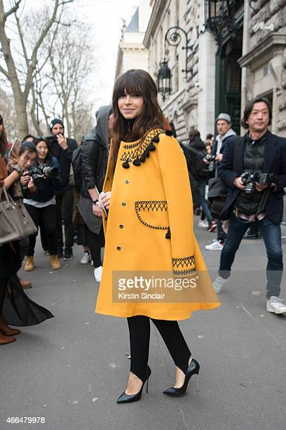 Founder of Buro 24/7 Miroslava Duma on day 7 of Paris Collections Women on March 09 2015 in Paris France