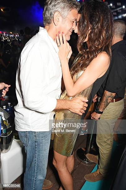 Founder of Casamigos Tequila George Clooney and Amal Clooney attend as Casamigos founders Rande Gerber George Clooney and Mike Meldman host the...
