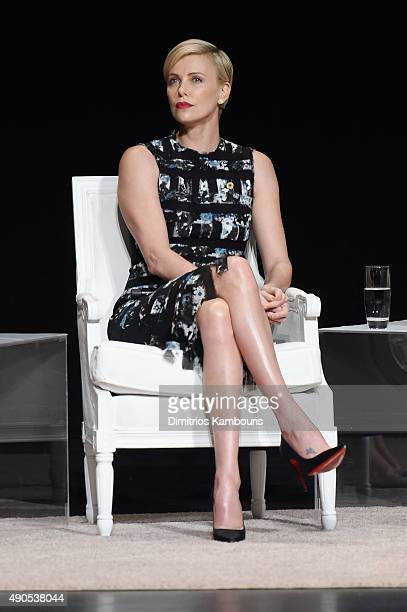 Founder of Charlize Theron Africa Outreach Project and UN Messenger of Peace Charlize Theron joins Glamour 'The Power Of An Educated Girl' panel at...
