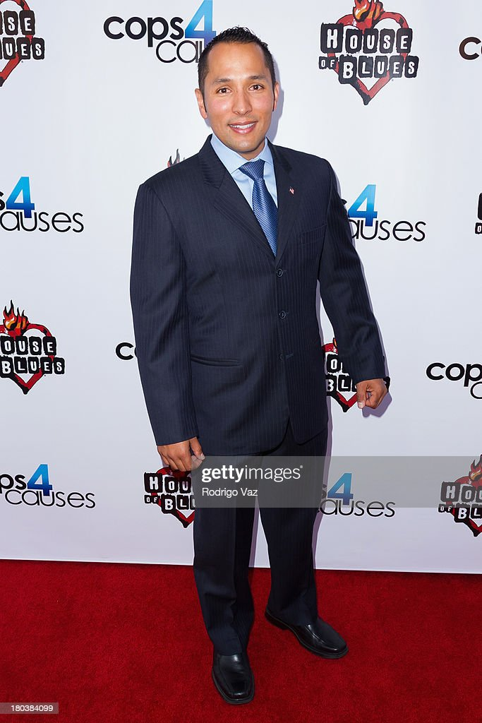 Founder of Cops 4 Causes Christopher Landavozo arrives at Cops 4 Causes hosts 2nd Annual 'Heroes Helping Heroes' Benefit Concert at House of Blues Sunset Strip on September 11, 2013 in West Hollywood, California.