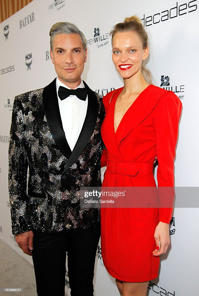 Founder of Decades, Cameron Silver and author Sarah DeAnna attend the Dukes Of Melrose launch hosted by Decades, Harper's BAZAAR, and MCM on February 28, 2013 in Los Angeles, California.