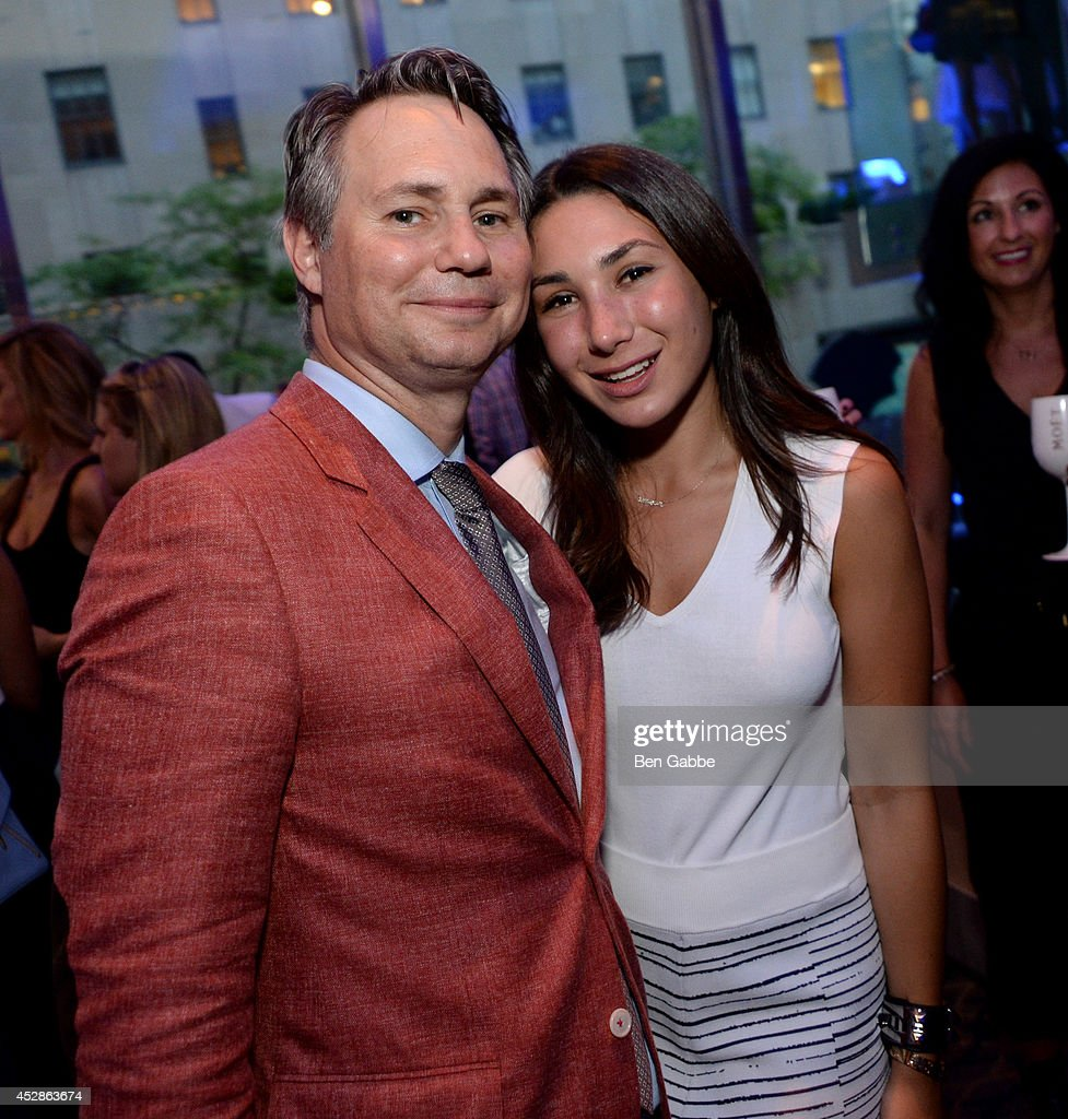Founder of DuJour Media Group Jason Binn (L) and Danielle Kramer attend DuJour Magazine and NYY Steak celebrating Chrissy Teigen with FENDI timepieces and Moet Ice on July 28, 2014 in New York City.
