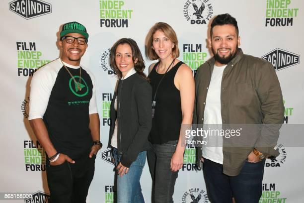 Founder of Everybody Digital Allen Maldonado cofounder of Opaque Studios Mariana Acuña filmmaker Jessica Kantor and filmmaker Marvin Lemus attend day...
