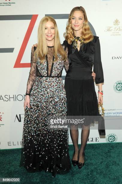 Founder of Fashion 4 Development Evie Evangelou and Beatrice Borromeo Casiraghi attend Fashion 4 Development's 7th Annual First Ladies Luncheon at...