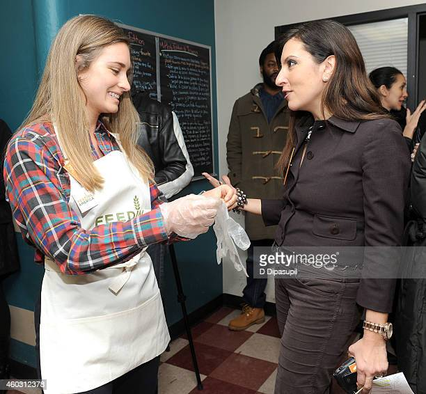 Founder of FEED Lauren Bush Lauren and Chief Marketing Officer Chief Communications Officer at Food Bank For New York City Silvia Davi attend Feeding...