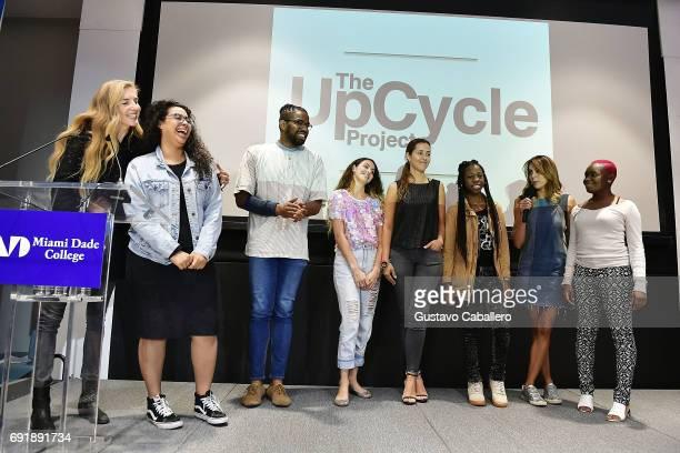 Founder of Felder Felder Cofounder of The Upcycle Project Miami Annette Felder and Cofounder of The Upcycle Project Miami Gabriella Smith speak at...