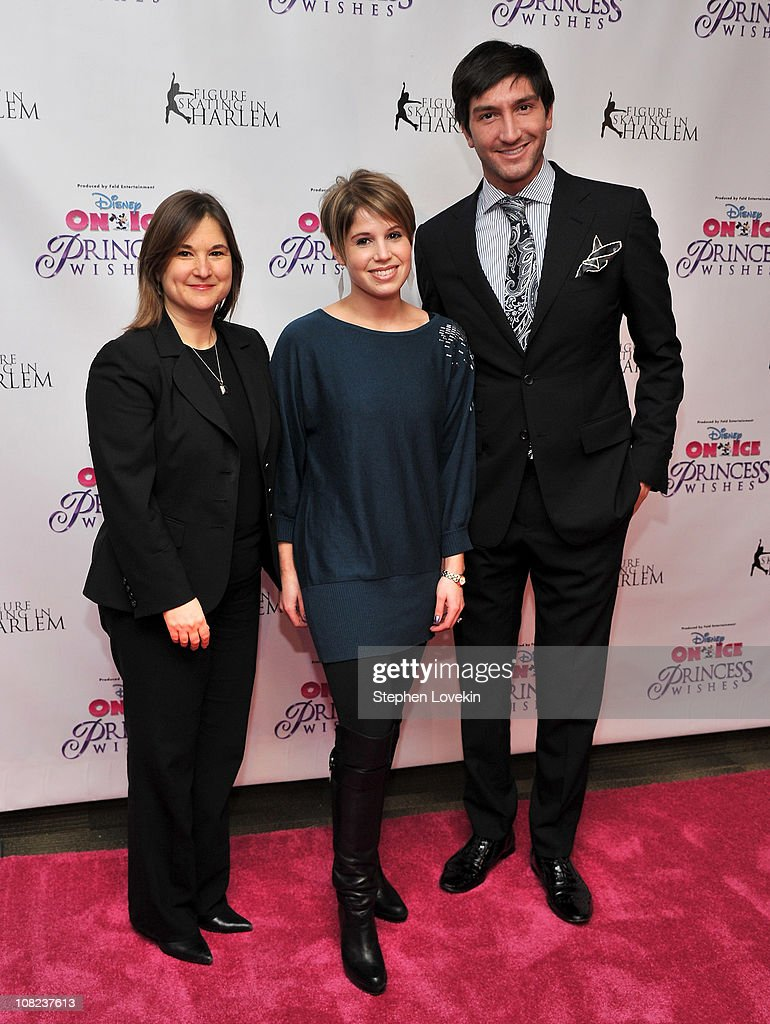 Founder of Figure Skating in Harlem Sharon Cohen, Disney On Ice producer Nicole Feld, and Olympic gold medalist/TV personality Evan Lysacek attend Disney On Ice's 'Princess Wishes' opening night at Madison Square Garden on January 21, 2011 in New York City.