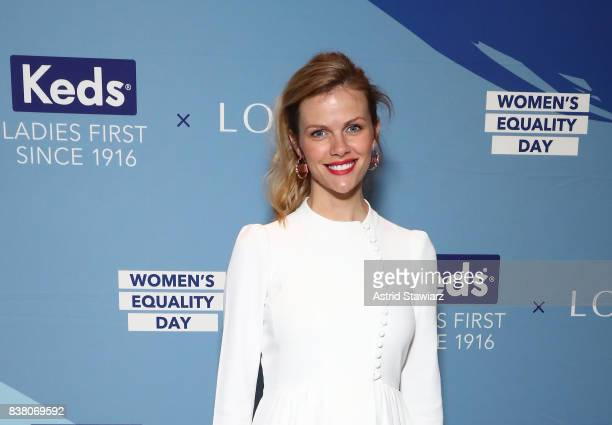 Founder of FINERYcom Brooklyn Decker attends the 'CHAMPION EQUALITY MAKE IT YOUR BUSINESS' panel event hosted by Keds LOLA to celebrate Women's...