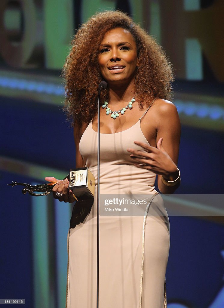 Founder of #GIRLSLIKEUS <a gi-track='captionPersonalityLinkClicked' href=/galleries/search?phrase=Janet+Mock&family=editorial&specificpeople=8562177 ng-click='$event.stopPropagation()'>Janet Mock</a> speaks on stage at the ADCOLOR Awards at The Beverly Hilton Hotel on September 21, 2013 in Beverly Hills, California.