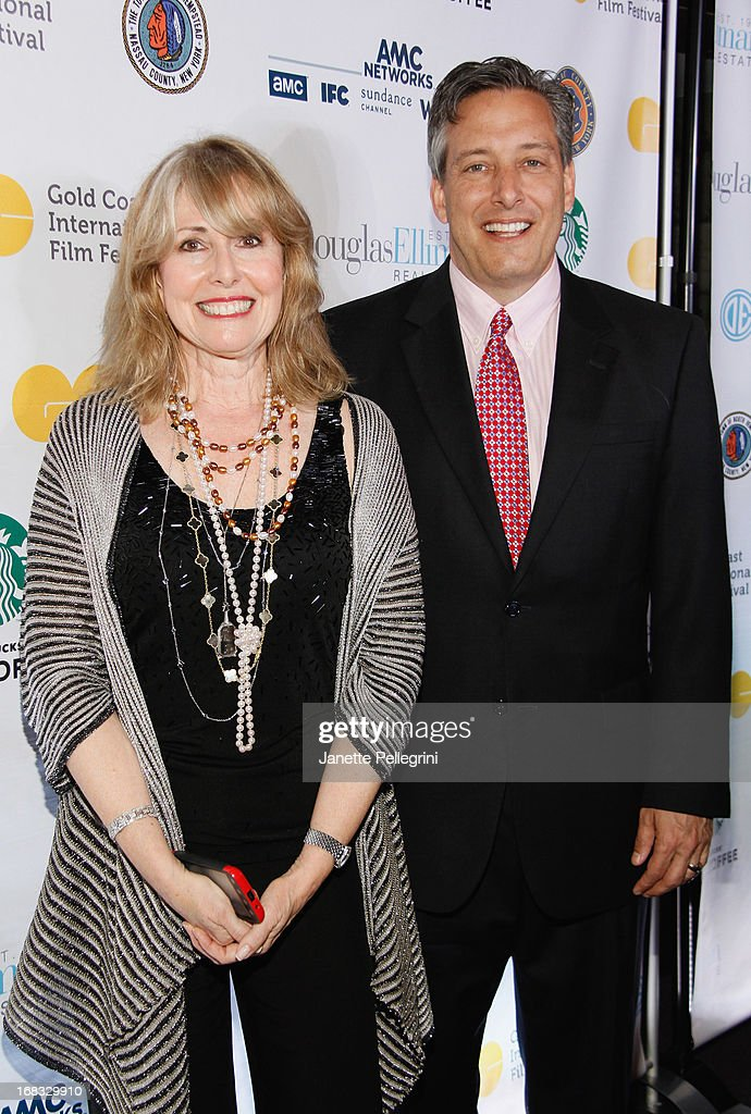 Founder of Gold Coast International Film Festival Regina Gil and North Hempstead Town Supervisor Jon Kaiman attend Gold Coast International Film Festival Screening Of 'The Great Gatsby' at Soundview Cinemas on May 8, 2013 in Port Washington.
