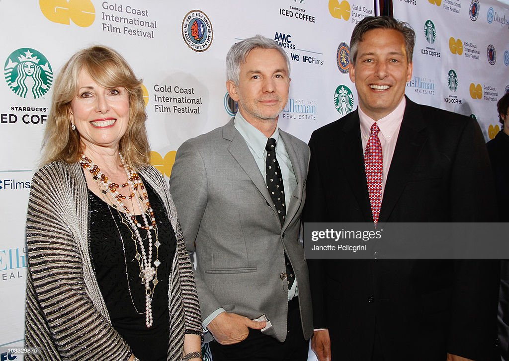 Founder of Gold Coast International Film Festival Regina Gil, Director <a gi-track='captionPersonalityLinkClicked' href=/galleries/search?phrase=Baz+Luhrmann&family=editorial&specificpeople=209230 ng-click='$event.stopPropagation()'>Baz Luhrmann</a> and North Hempstead Town Supervisor Jon Kaiman attend Gold Coast International Film Festival Screening Of 'The Great Gatsby' at Soundview Cinemas on May 8, 2013 in Port Washington.