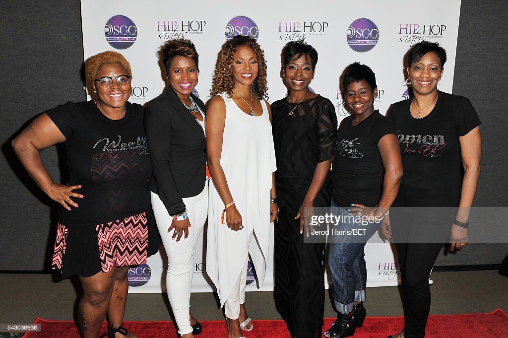 Founder of Hip Hop Sisters Foundation <a gi-track='captionPersonalityLinkClicked' href=/galleries/search?phrase=MC+Lyte&family=editorial&specificpeople=226807 ng-click='$event.stopPropagation()'>MC Lyte</a> (C), CEO of Hip Hop Sisters Foundation Lynn Richardson and guests attend Women, Wealth, and Relationships presented by HIP HOP SISTERS during the 2016 BET Experience on June 25, 2016 in Los Angeles, California.