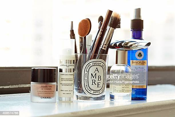 Founder of Into the Gloss Emily Weiss's beauty essentials are photographed for Madame Figaro on January 24 2014 in New York City CREDIT MUST READ...