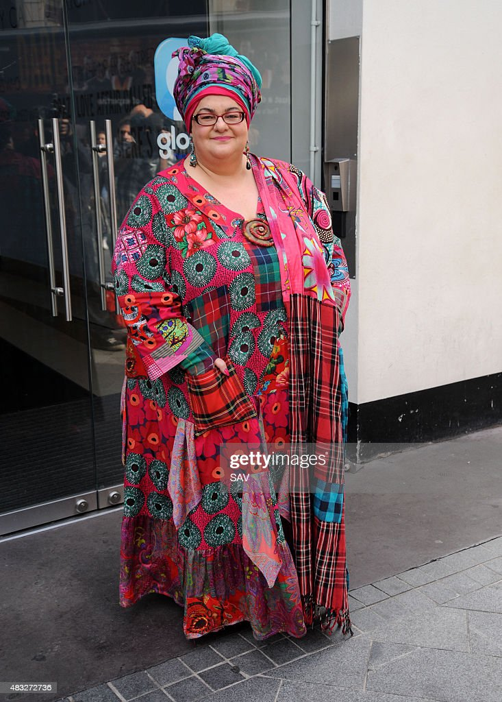 Founder of Kids Company Camila Batmanghelidjh is interviewed outside Global House on August 7, 2015 in London, England.