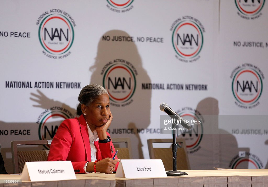 Founder of Life Camp, Inc, Erica Ford at the panal 'Gun Violence: Addressing Real Reform' during the 2013 NAN National Convention Day 1 at New York Sheraton Hotel & Tower on April 3, 2013 in New York City.