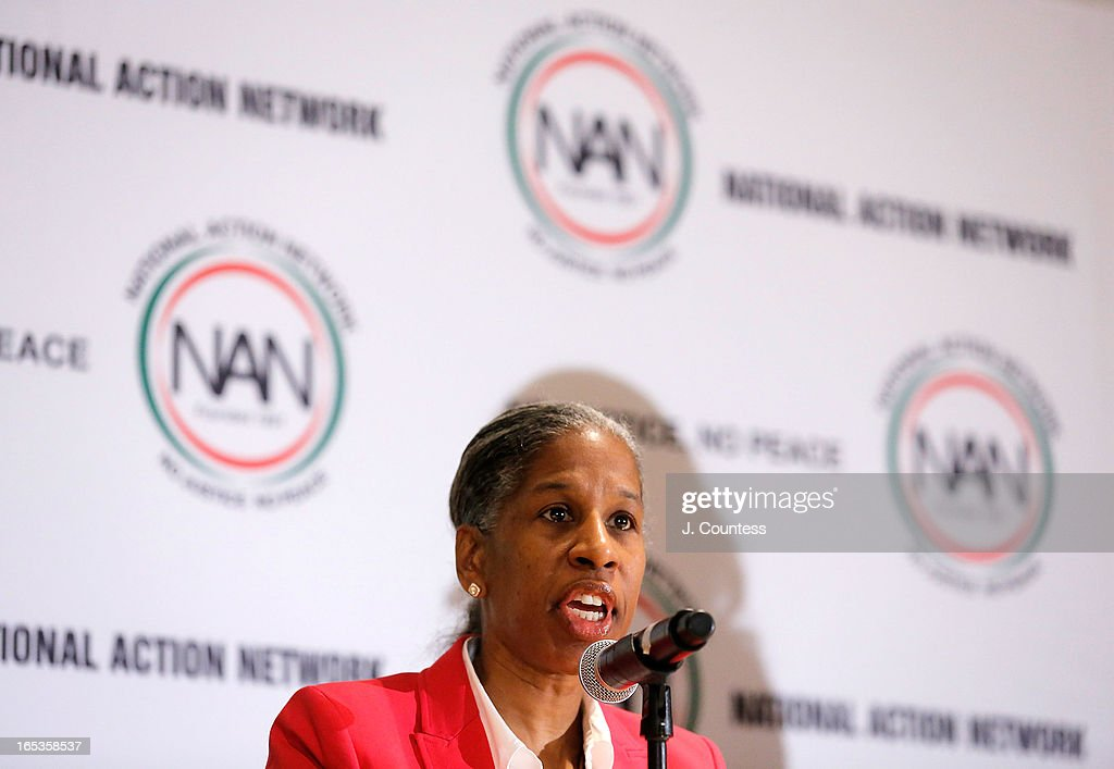 Founder of Life Camp, Inc, Erica Ford speaks during the panal 'Gun Violence: Addressing Real Reform' during the 2013 NAN National Convention Day 1 at New York Sheraton Hotel & Tower on April 3, 2013 in New York City.