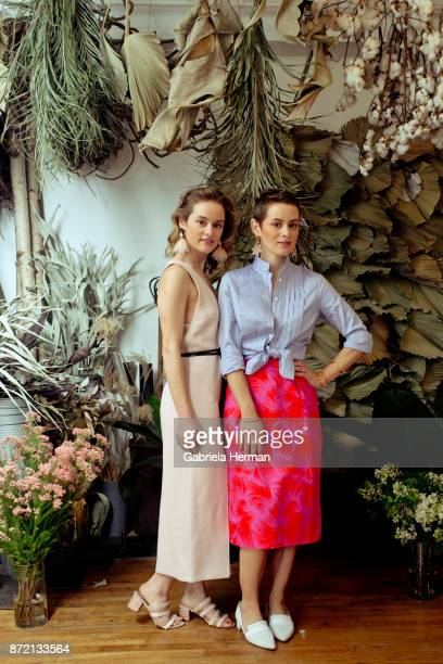 Founder of Lizzie Fortunato Kathryn Fortunato and Elizabeth Fortunato are photograpehd for Domino on March 25 2017 in New York City