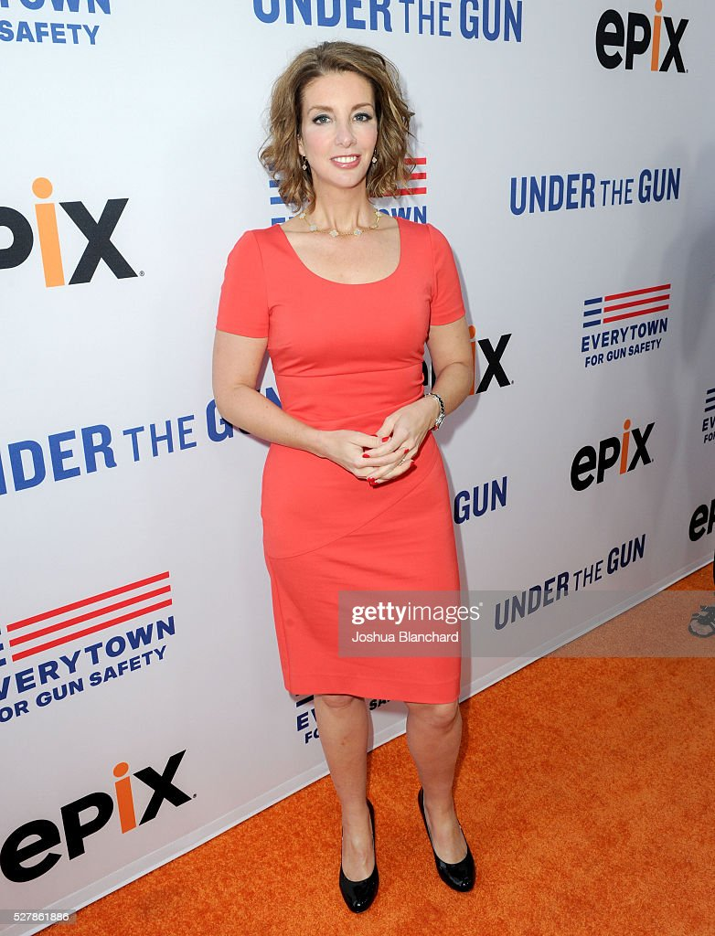 Founder of Moms Demand Action Shannon Watts attends the 'Under The Gun' LA premiere featuring Katie Couric and Stephanie Soechtig at Samuel Goldwyn...