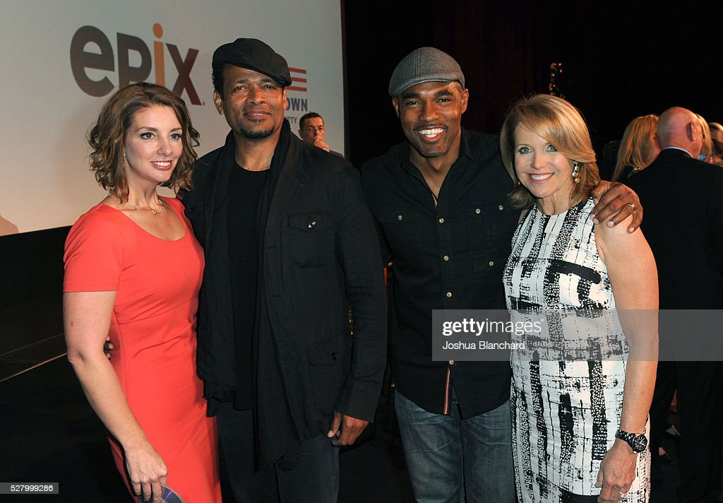 Founder of Moms Demand Action Shannon Watts director Mario Van Peebles actor Jason George and journalist/executive producer Katie Couric attend the...