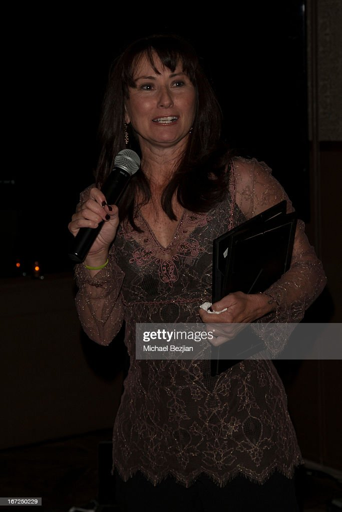 Founder of Mutt Match LA Sheilah Aragon speaks at Mutt Match LA Fundraiser at Soho House on April 22, 2013 in West Hollywood, California.