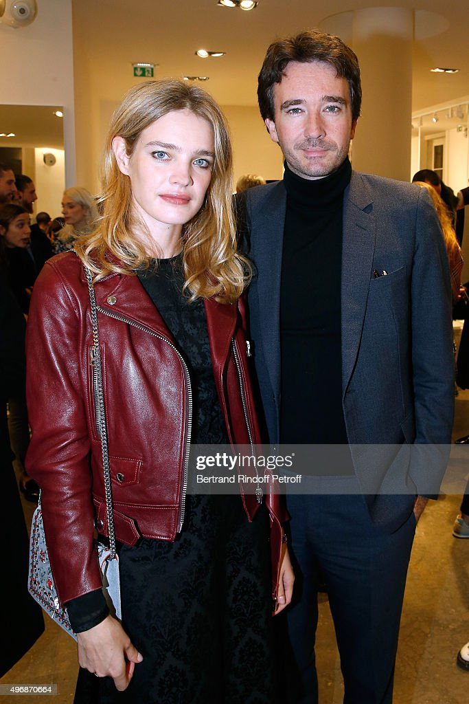 Founder of Naked Heart Foundation, Model <a gi-track='captionPersonalityLinkClicked' href=/galleries/search?phrase=Natalia+Vodianova&family=editorial&specificpeople=203265 ng-click='$event.stopPropagation()'>Natalia Vodianova</a> and General manager of Berluti <a gi-track='captionPersonalityLinkClicked' href=/galleries/search?phrase=Antoine+Arnault&family=editorial&specificpeople=676045 ng-click='$event.stopPropagation()'>Antoine Arnault</a> attend the 'Preciously Paris Bag', created to benefit Naked Heart Foundation : Launch Cocktail at Colette on November 12, 2015 in Paris, France.