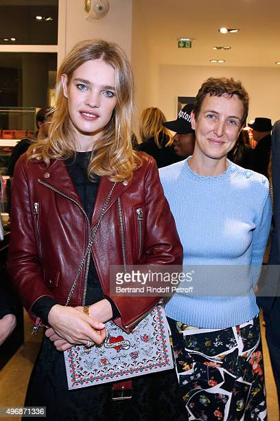 Founder of Naked Heart Foundation Model Natalia Vodianova and Sarah de chez colette attend the 'Preciously Paris Bag' created to benefit Naked Heart...