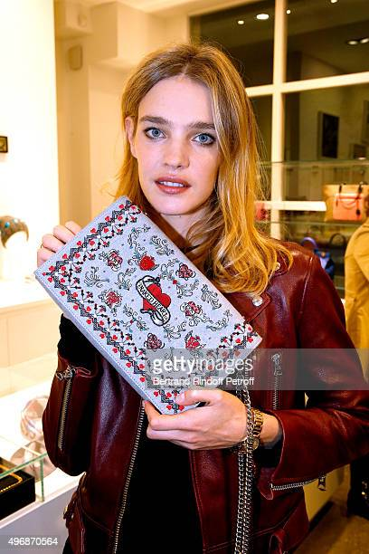 Founder of Naked Heart Foundation Model Natalia Vodianova attends the 'Preciously Paris Bag' created to benefit Naked Heart Foundation Launch...
