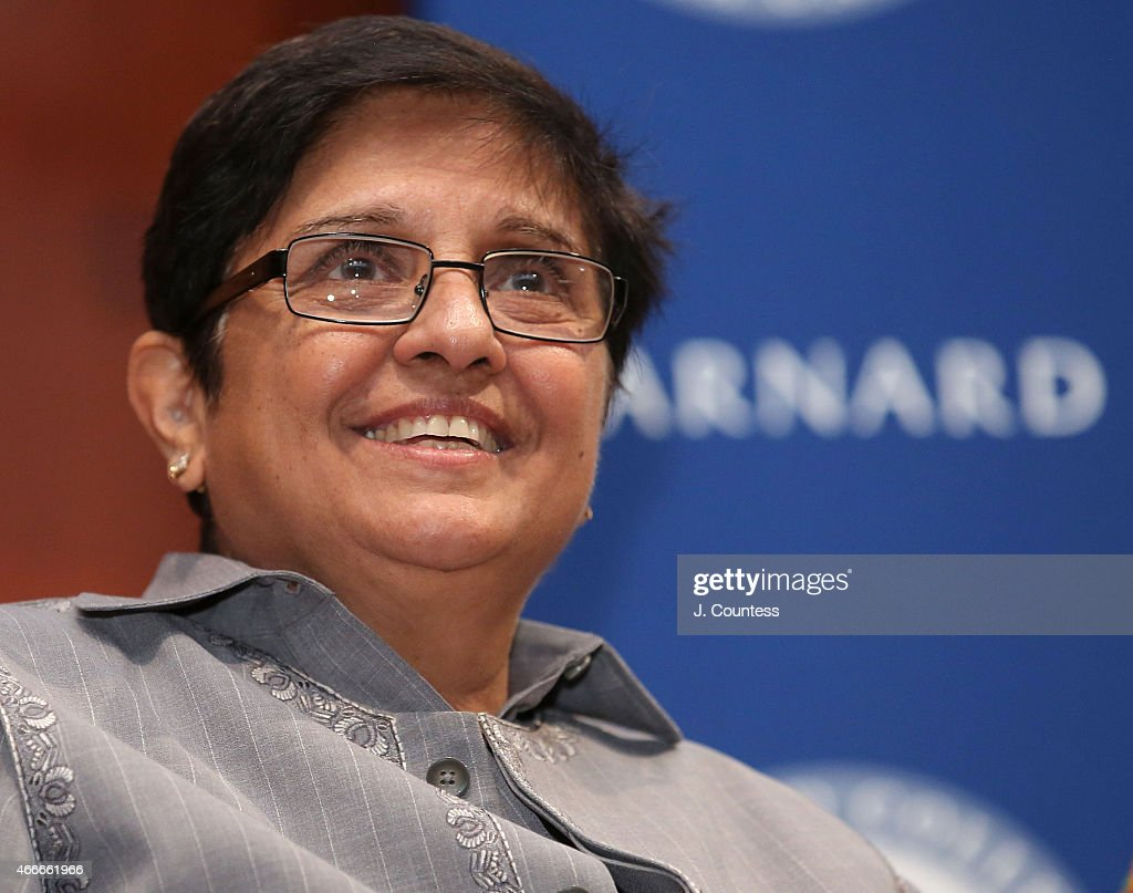 Founder of Navjyoti India Foundation <a gi-track='captionPersonalityLinkClicked' href=/galleries/search?phrase=Kiran+Bedi&family=editorial&specificpeople=2886102 ng-click='$event.stopPropagation()'>Kiran Bedi</a> speaks at Barnard College's 7th Annual Global Symposium at Barnard College on March 13, 2015 in New York City.