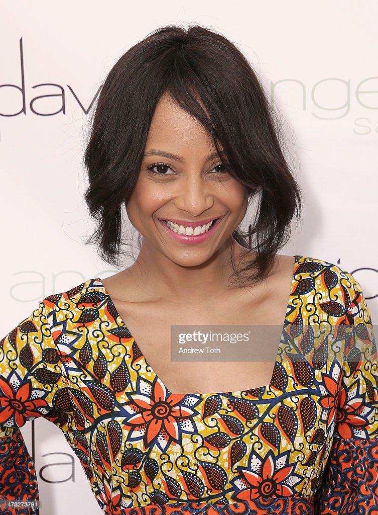 Founder of PinkChoseMe Tiffany Jones attends Aviva Drescher's 'Leggy Blonde' book launch celebration at Angelo David Salon on March 12, 2014 in New York City.