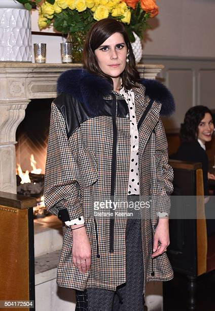 Founder of Rodarte Laura Mulleavy attends W Magazine's It Girl luncheon in partnership with Coach and Moet Chandon at AOC on January 9 2016 in Los...