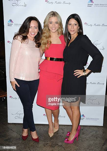 Founder of Secret of the Islands Joanne Bolos Sasha Pieterse and Founder of Pretty Public Beauty Devin Giannoni attend Pretty Pink Beauty Night in...