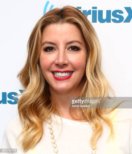 Founder of SPANX Sara Blakey poses for photos before 'SiriusXM's Town Hall With Sara Blakey Hosted By Randi Zuckerberg' at SiriusXM Studios on June...