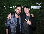 Founder of STAMPD Chris Stamp and Diplo attend STAMPD x PUMA Celebrate SS16 Launch at Hollywood Roosevelt Hotel on April 2 2016 in Hollywood...