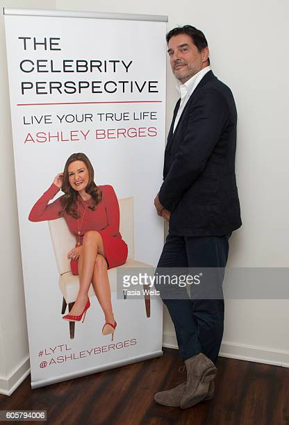 Founder of Stellar Hitch Professional Matchmaking Personal Consulting Andrea Morara poses for portrait on the set of The Celebrity Perspective hosted...