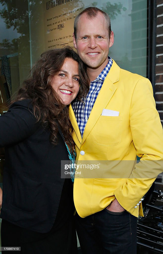 Founder of STORY, Rachel Shechtman and head of Birchbox Man, Brad Lande attend the Birchbox + Details Magazine 'His-Story' event at STORY on June 11, 2013 in New York City.