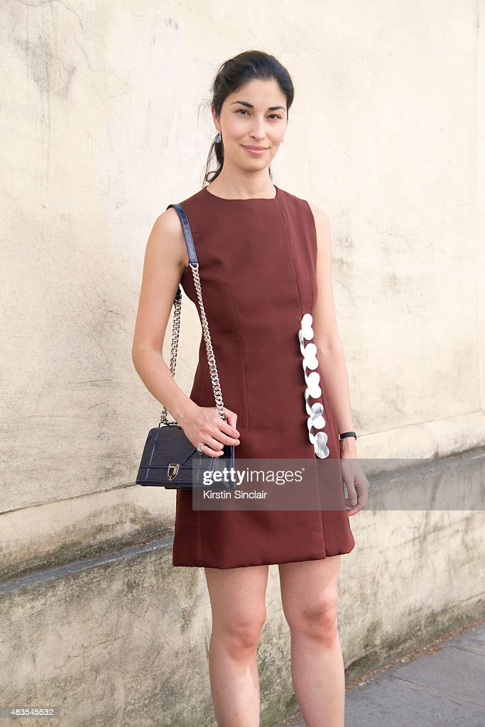 Founder of Tank magazine and Fashion consultant Caroline Issa wears all Dior couture on day 2 of Paris Fashion Week Haute Couture Autumn/Winter 2015...