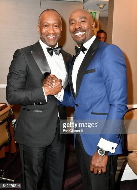 Founder of the ABFF Jeff Friday and actor Morris Chestnut attend BET Presents the American Black Film Festival Honors on February 17 2017 in Beverly...