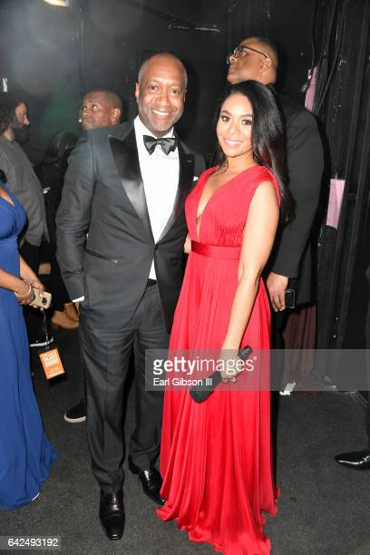 Founder of the ABFF Jeff Friday and host Regina Hall attend BET Presents the American Black Film Festival Honors on February 17 2017 in Beverly Hills...