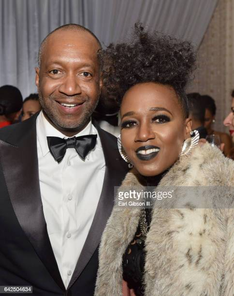 Founder of the ABFF Jeff Friday and singer Dionne Farris attend BET Presents the American Black Film Festival Honors on February 17 2017 in Beverly...